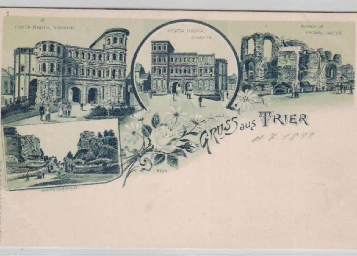 Trier .....alte Litho  Karte    (ke2295   ) siehe scan