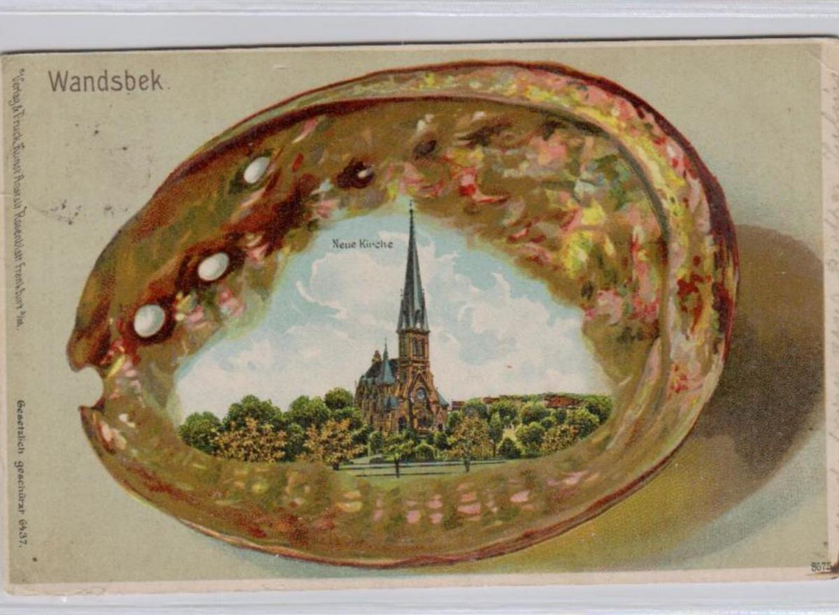 Wandsbek .....alte Litho Karte    (ke1965   ) siehe scan
