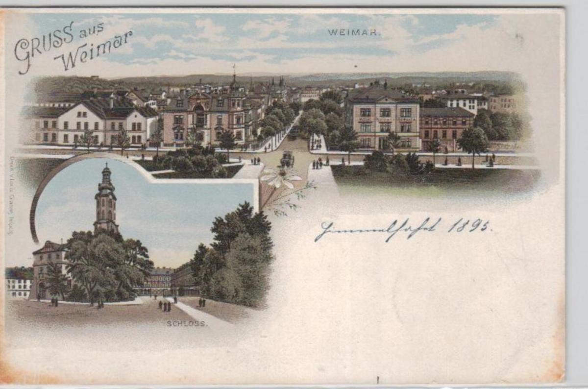Weimar   .....alte Litho Karte    (ke2375   ) siehe scan