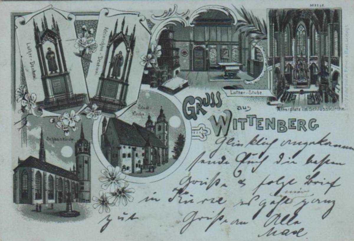 Wittenberg   .....alte Litho Karte    (ke2109   ) siehe scan