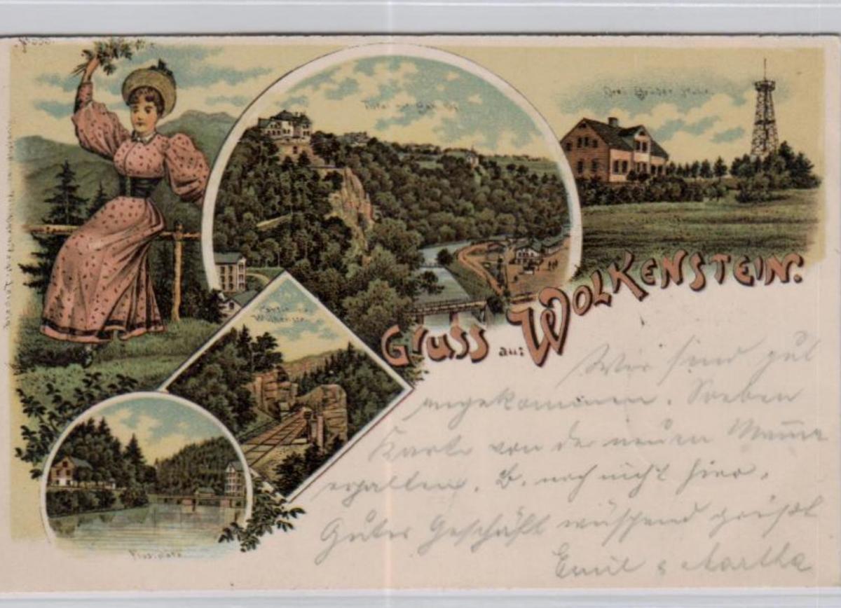 Wolkenstein .....alte Litho Karte    (ke2163   ) siehe scan