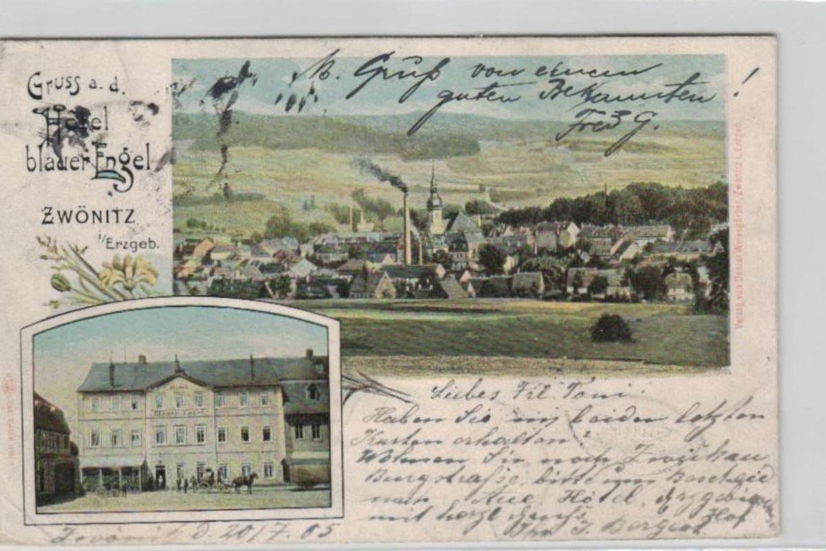Zwönitz  .....alte Litho Karte    (ke2359   ) siehe scan