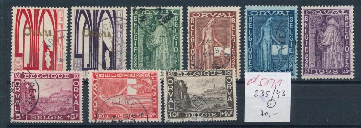 Belgien Nr. 235-43  o   (ed5171  ) siehe scan