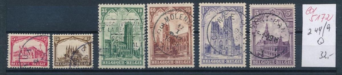 Belgien Nr. 244-9  o   (ed5172  ) siehe scan