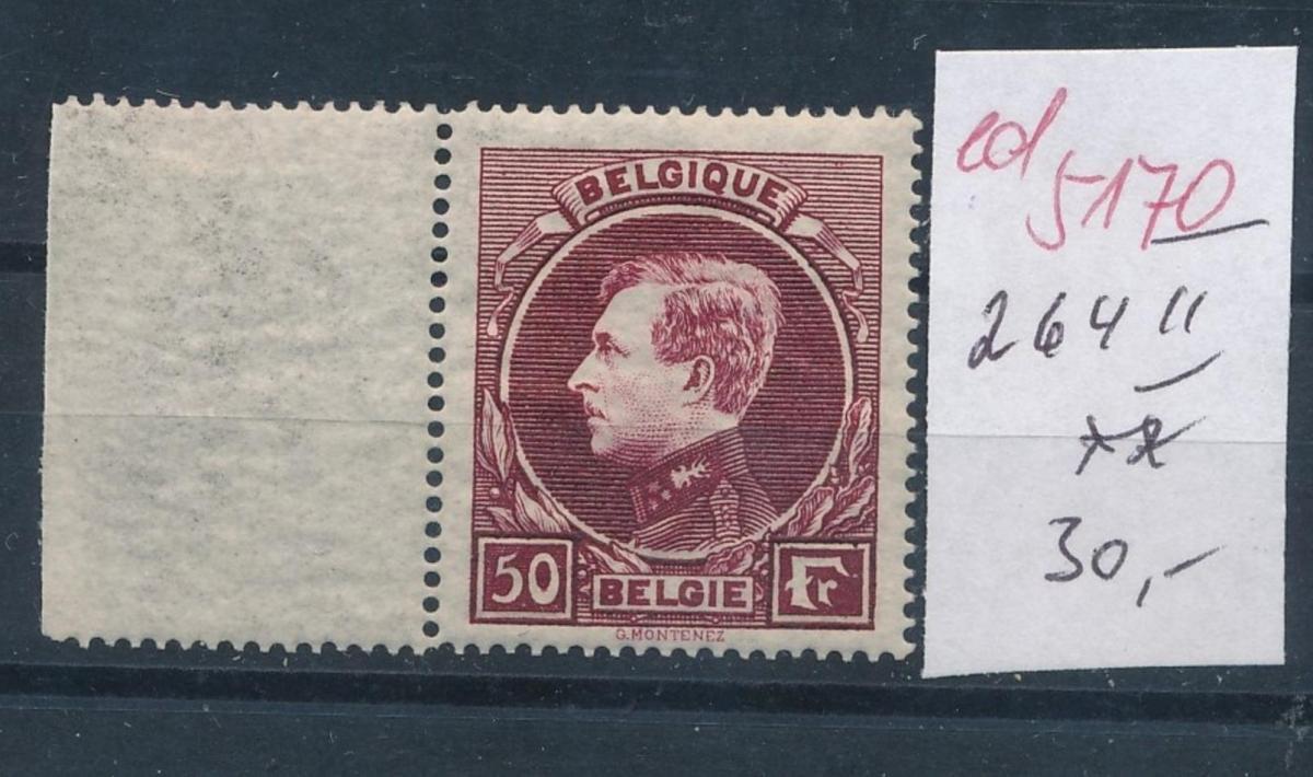 Belgien Nr. 264 II **    (ed5170  ) siehe scan