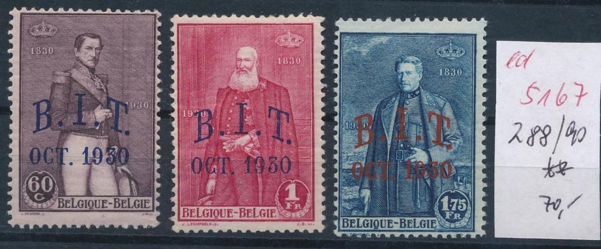 Belgien Nr. 288-90  **   (ed5167  ) siehe scan