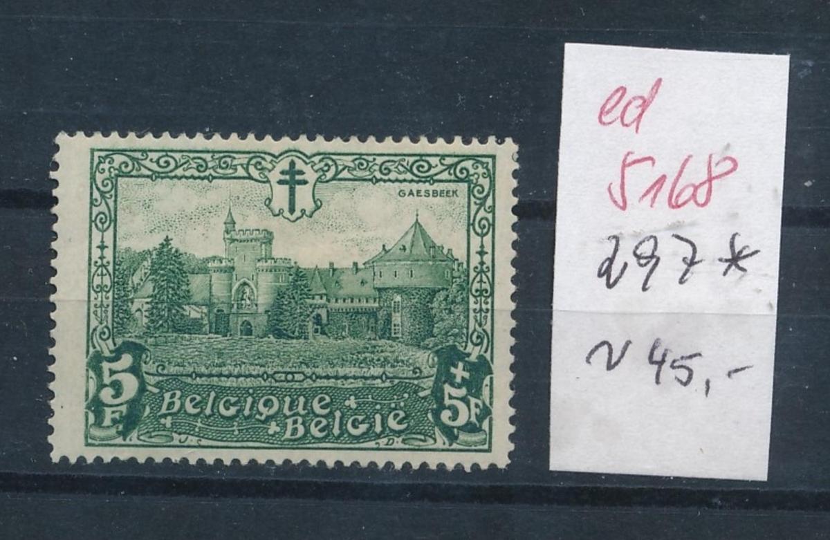 Belgien Nr. 297  *   (ed5168  ) siehe scan