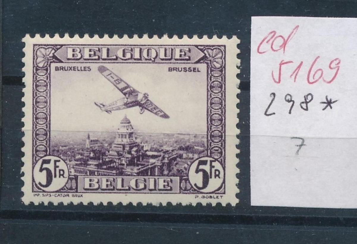 Belgien Nr. 298  *   (ed5169  ) siehe scan