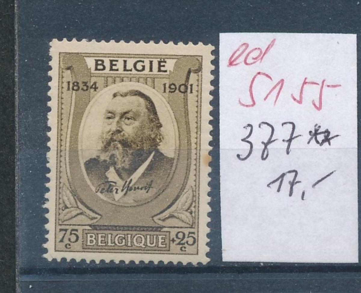 Belgien Nr. 377   **    (ed5155 ) siehe scan