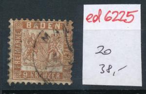 Baden   Nr. 20    o  (ed6225  ) siehe scan