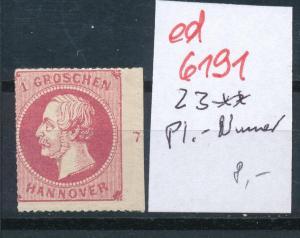 Hannover Nr. Rand- Platten Nummer   (ed6191  ) siehe scan