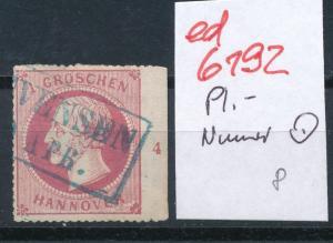 Hannover Nr. Rand- Platten Nummer   (ed6192  ) siehe scan
