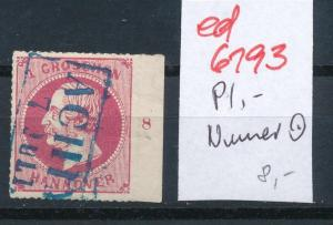 Hannover Nr. Rand- Platten Nummer   (ed6193  ) siehe scan