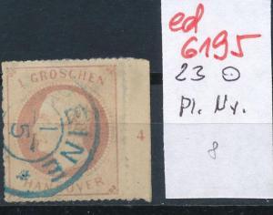 Hannover Nr. Rand- Platten Nummer   (ed6195  ) siehe scan