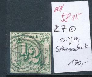 Thurn & Taxis Nr. 7 o signiert  (ed5815  ) siehe scan