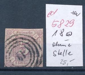 Thurn & Taxis Nr. 18  leicht dünn  (ed5829  ) siehe scan
