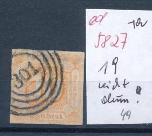 Thurn & Taxis Nr. 19 leicht dünn  (ed5827  ) siehe scan