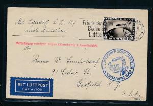 D.-Reich  -Zeppelin Amerika Fahrt netter  Beleg  (t8715 ) siehe scan !!