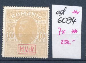 D.-Post Rumänien Nr. 7x  **   (ed6094 ) siehe scan