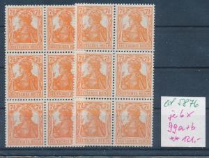 D.-Reich Nr. 6x 99 a+b   **    (ed5876 ) siehe scan