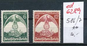 D.-Reich Nr. 586-7  **   (ed6289  ) siehe scan