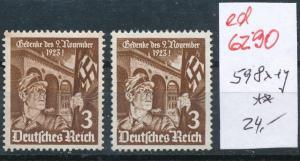 D.-Reich Nr. 598 x+y   **   (ed6290  ) siehe scan