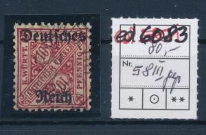 D.-Reich Nr. D 58 III geprüft  o ......  (ed6083  ) siehe scan