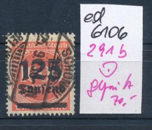 D.Reich Nr 291 b geprüft   (ed6106  ) siehe scan