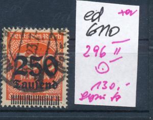 D.Reich Nr 296   II  geprüft   (ed6110  ) siehe scan