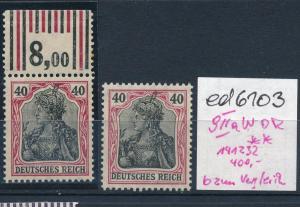 D.Reich Nr.90 IIa WOR ** und b nur zum Vergleich  (ed6103  ) siehe scan
