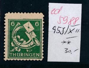 SBZ Nr. 95 XII  .**...  (ed5988  ) siehe scan