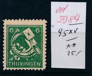 SBZ Nr. 95 XV   ....  (ed5984  ) siehe scan