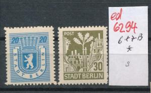 SBZ Nr.   6+7 B  *  (ed6294  ) siehe scan