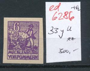 SBZ Nr.   33y U **  (ed6286  ) siehe scan