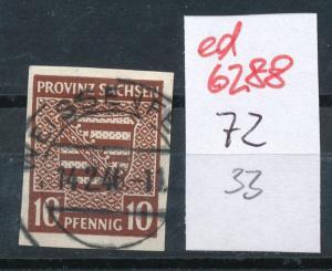 SBZ Nr.   72  o  (ed6288  ) siehe scan