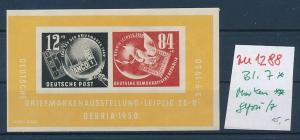 DDR Block 7 * / Marken ** .  (zu1288  ) siehe scan
