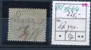 D.-Reich Nr. 12  o   (ed3664  ) siehe scan