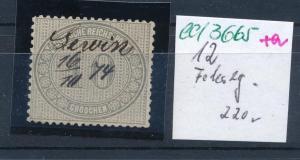 D.-Reich Nr. 12  o   (ed3665  ) siehe scan