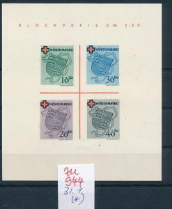 Würtemberg  Block  1  (*)    (zu944  ) siehe scan