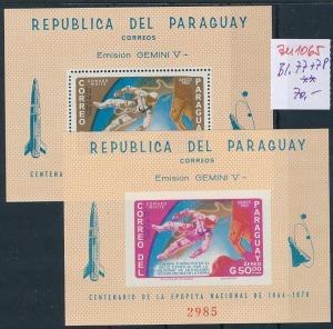 Paraguay Block  77-78   **   (zu1065  ) siehe scan