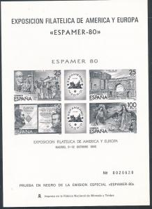 Spanien   Sonder  Drucke Espamer 1980         **   (zu1094  ) siehe scan
