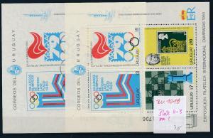 Uruguay  2 Blocks von 1980 A+B  ?  **   (zu1019  ) siehe scan