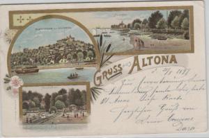 Altona  .....alte Litho Karte    (ke1961   ) siehe scan