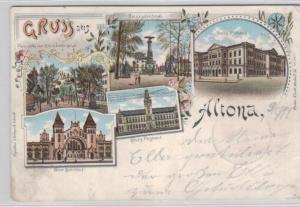 Altona  .....alte Litho Karte    (ke1969   ) siehe scan