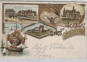 Harburg  .....alte Litho Karte    (ke1941   ) siehe scan