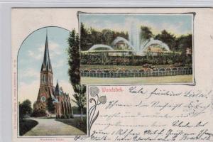 Wandsbek .....alte Litho Karte    (ke1967   ) siehe scan