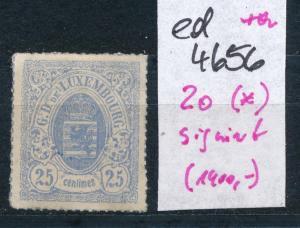 Luxemburg Nr. 20  (*) signiert  (ed4656  ) siehe scan