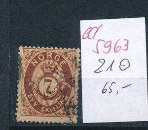 Norge  Nr. 21 o       (ed5963  ) siehe scan