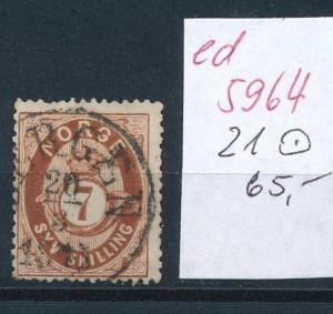 Norge  Nr. 21 o       (ed5964  ) siehe scan