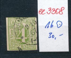 Hamburg  Nr. 16  o....( ee3308 ) siehe scan !